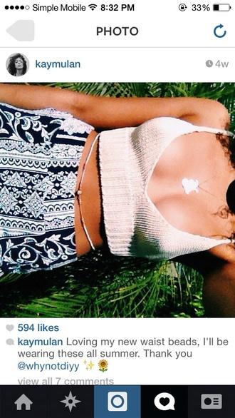 tank top crop tops crochet white deep v neck