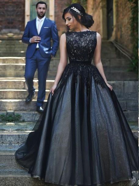 dress prom dress prom dress 2016 tulle dress black ball gown dress simple-dress ball gown dress