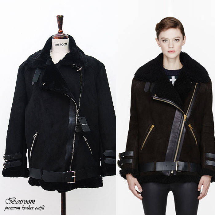 Black Shearling Coat Photo Album - Reikian
