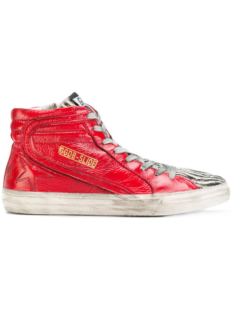 GOLDEN GOOSE DELUXE BRAND high women sneakers leather red shoes