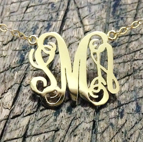 Monogrammed necklace gold, 3 initial necklace, 18K Gold necklace, Personalized Necklace, best gift Jewelry for mom   Personalized Bracelets   Custom Necklace   Wholesale craft supplies   Turntopretty