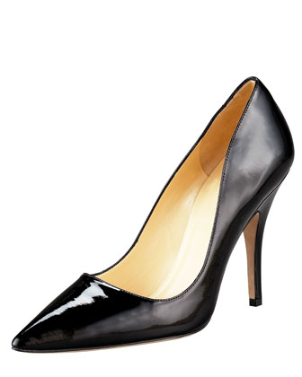 kate spade new york licorice pointed-toe pump - Neiman Marcus