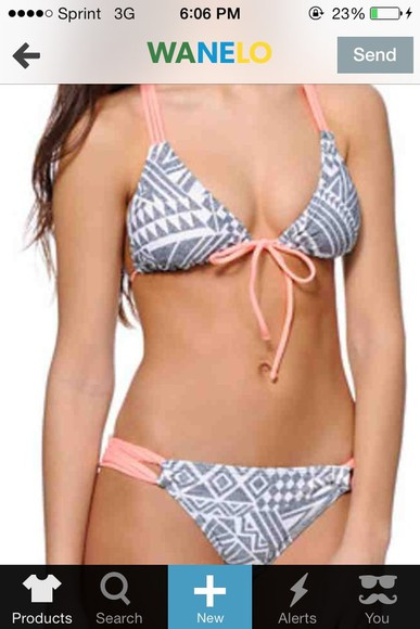 swimwear grey swimwear lightpink