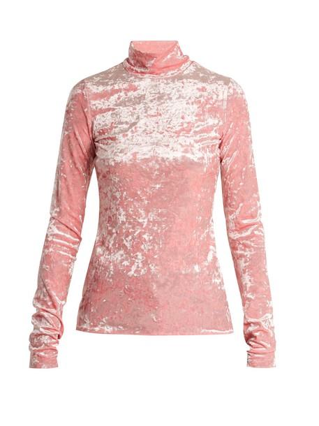 Tibi top velvet top high velvet pink
