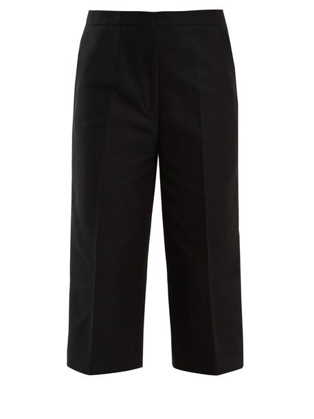 Rochas cropped cotton black pants