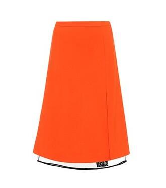skirt midi skirt midi orange