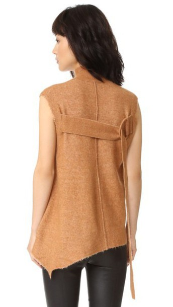 3.1 Phillip Lim Sleeveless Mock Neck Pullover - Toasted Coconut