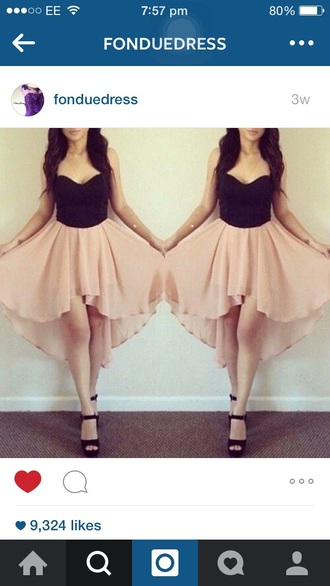 dress black and pink prom