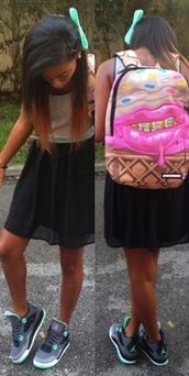 bag,shoes,dress,sprayground,grillz,backpack,lipstick,sprinkles,waffles,ice cream