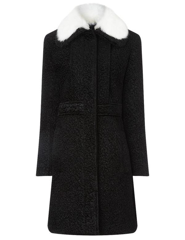 coat fur princess black