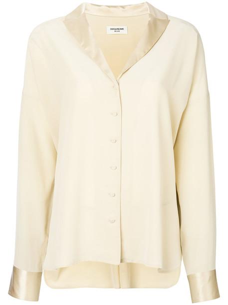 Zadig & Voltaire shirt women nude silk top