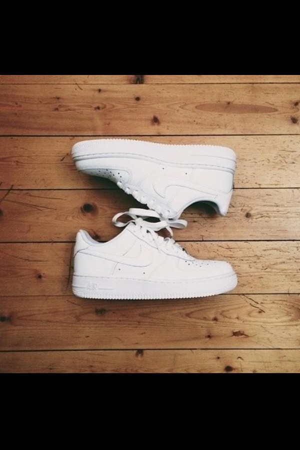 shoes nike nike air force 1 nike air nike sneakers white sneakers white nike air force one