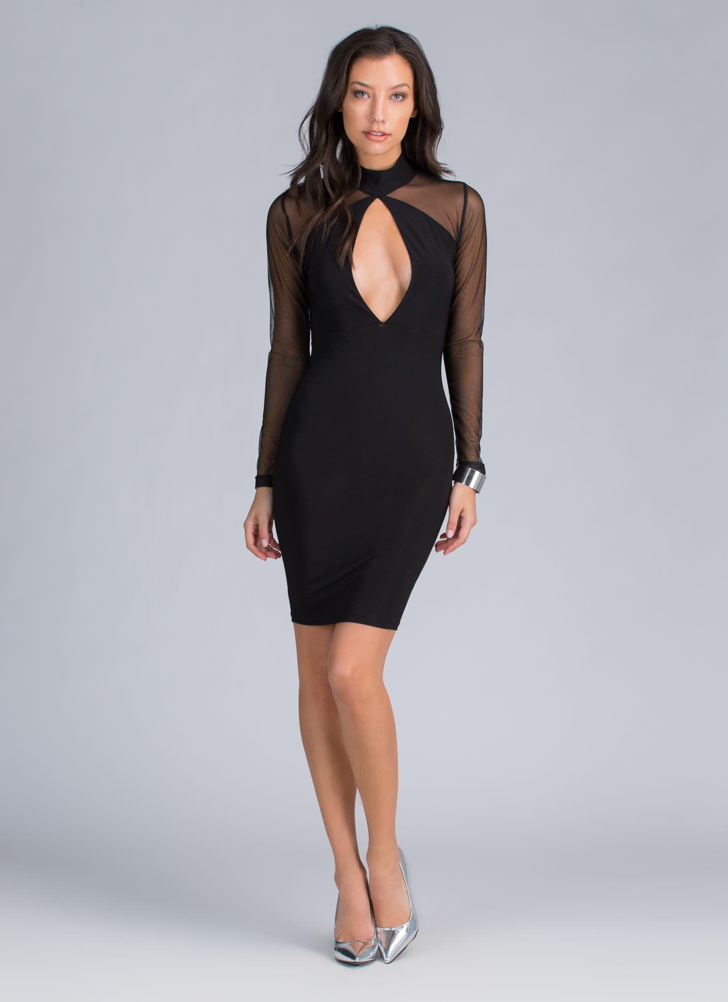 Your Angles Bodycon Dress BLACK - GoJane.com