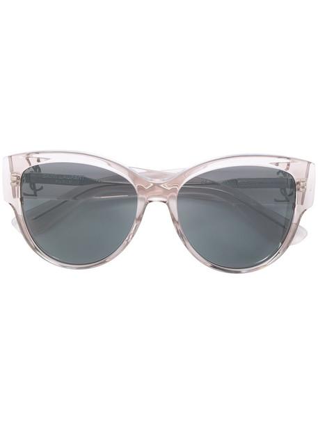 Saint Laurent Eyewear oversized women sunglasses oversized sunglasses nude
