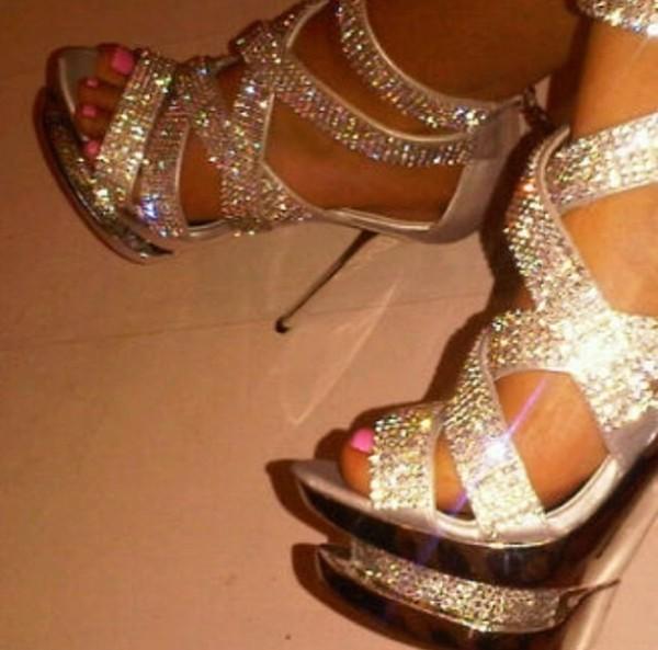 shoes platform shoes high heels glitter shoes