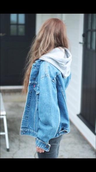 jacket jeans hoodie girl oversized boyfriend look