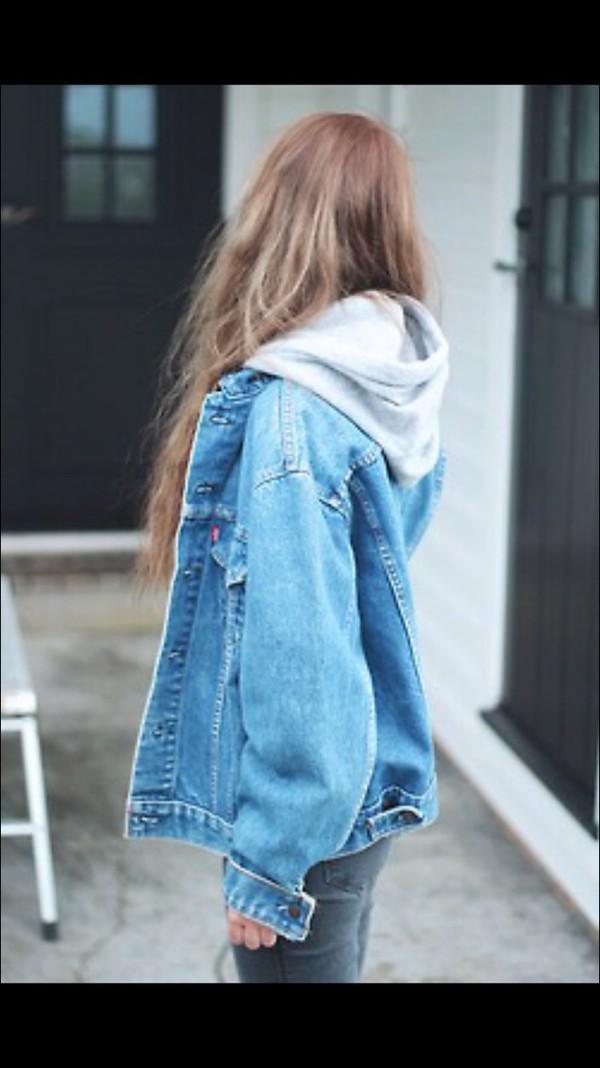 Jacket Jeans Hoodie Girl Oversized Boyfriend Look Wheretoget