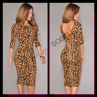 leopard print bodycon dress animal print sexy dress
