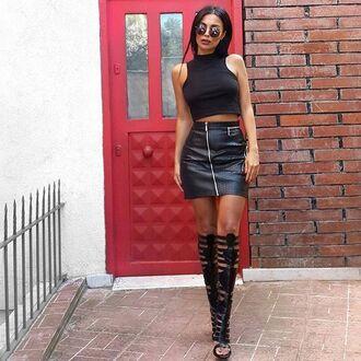 skirt maniere de voir snake snake embossed mini skirt zipped