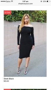 dress,curvy,black