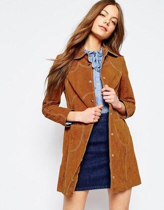 jacket suede jacket 70s style trench coat