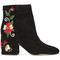 Sam edelman - embroidered ankle boots - women - suede - 9, black, suede