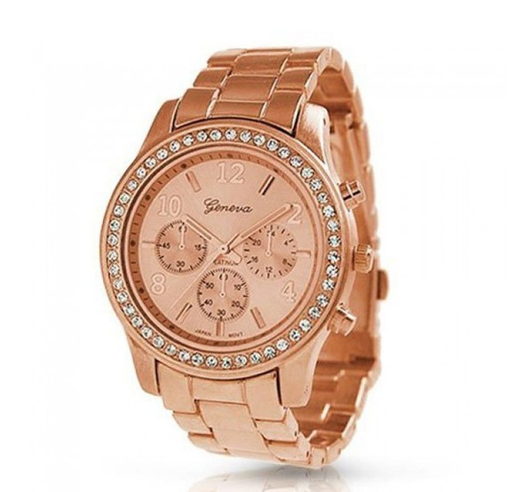 jewels rose gold watch diamonds gold golden watch