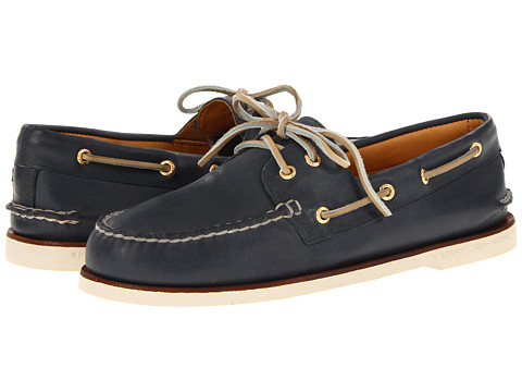 Sperry Top-Sider Gold A/O 2-Eye Navy - Zappos.com Free Shipping BOTH Ways