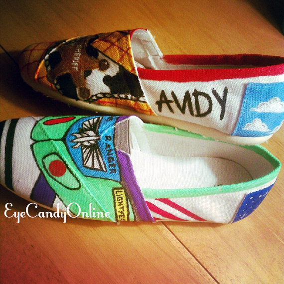 Disney inspired shoes by eyecandyonline on etsy