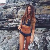 sunglasses,swimwear,tumblr bikini,bikini,navy,tumblr,high neck,blue,blue bikini,mesh,blue mesh,summer,cute,bikini top,bikini bottoms,mesh top,style,fashion,mimi,blue swimwear,sports swim top,summer top
