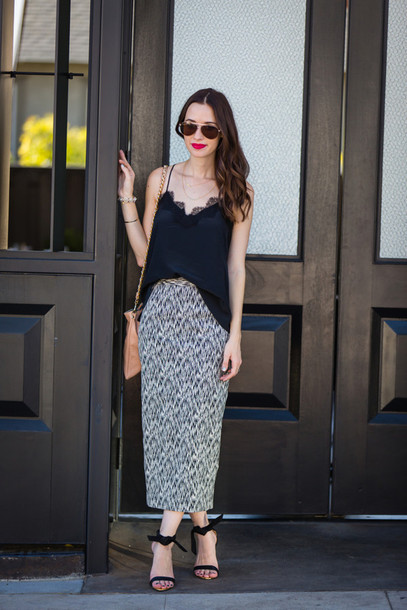 m loves m blogger top bag sunglasses jewels date outfit