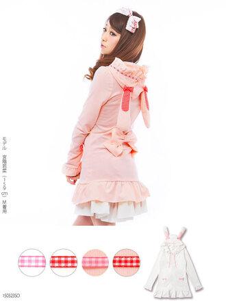cardigan kawaii jfashion pink pastel bunny cute