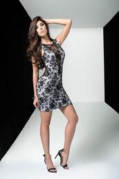 dress,lace back,split in back,mapalé club wear,black mesh dress,bikiniluxe