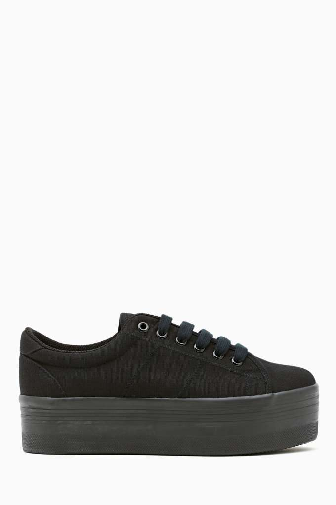 Zomg Platform Sneaker - Black | Shop Shoes at Nasty Gal
