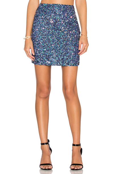 mlv skirt blue