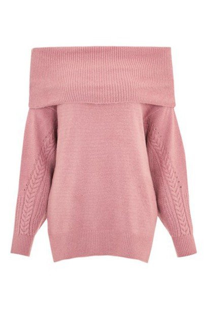 Topshop jumper pink sweater