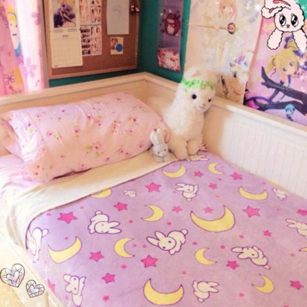 Cardigan, Bedding, Kawaii, Bunny, Moon, Home Decor