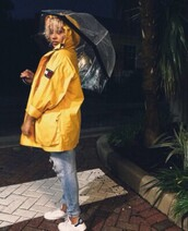 jacket,tommy hilfiger,tommy hilfiger jacket,yellow,raincoat