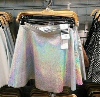 skirt holographic hologram skirt holographic skirt metallic skirt