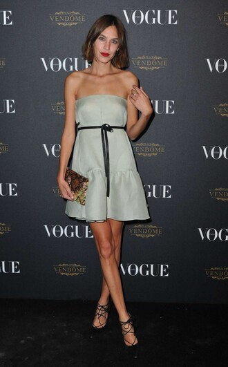 dress strapless strapless dress alexa chung fashion week pumps shoes