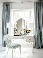 home accessory,pastel blue,home furniture,makeup table,classy,mirror