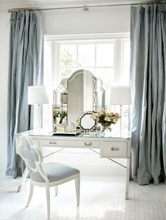 home accessory pastel blue home furniture makeup table classy mirror