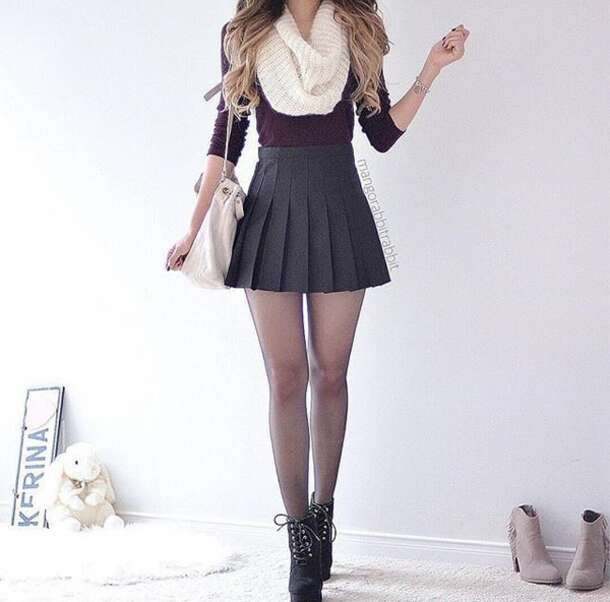 White Mini Pleated Skirt - Dress Ala