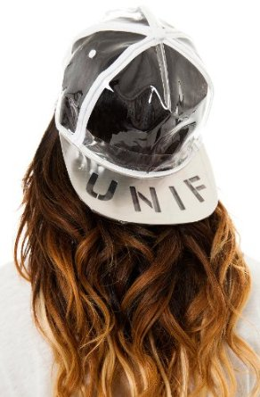 Amazon.com: unif women's vapor hat one size white: clothing