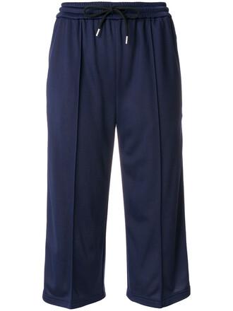 pants short women drawstring blue