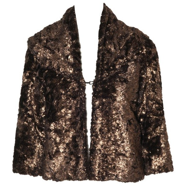 masha metallic faux fur jacket $396NOW $237.6 - Polyvore