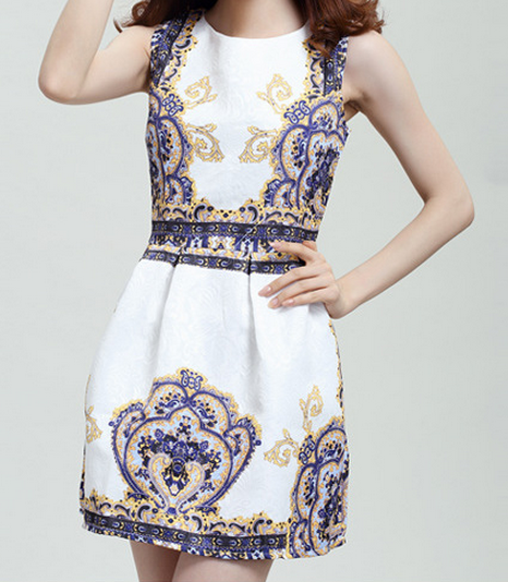 Elegant fashion flower dress