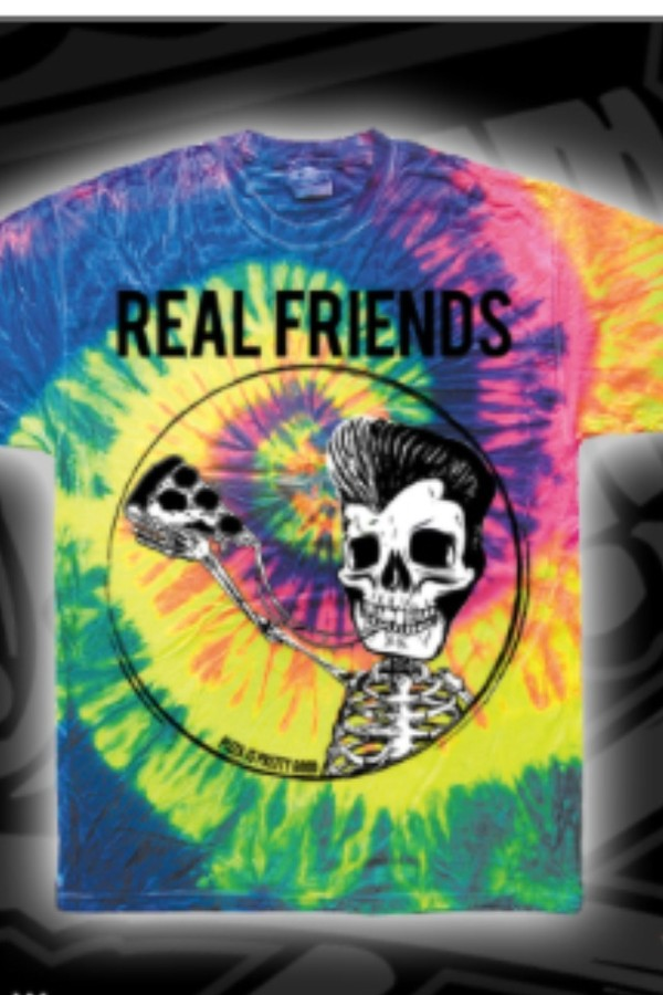 shirt tyedye skull skeleton pizza