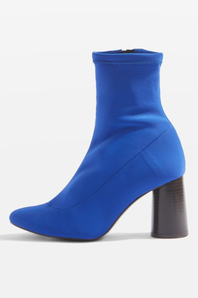 Topshop sock boots blue shoes