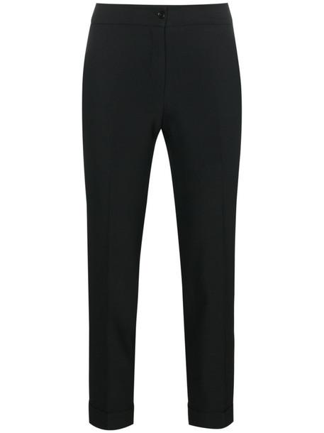 ETRO cropped women classic spandex black pants